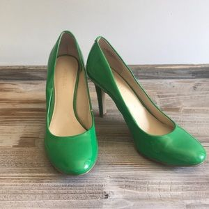 Nine West Glossy Emerald Green Pumps